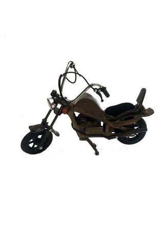 Black color Home Decor . Original Indonesian Handmade Ironcraft - Miniatur Besi Moge Harley Davidson -