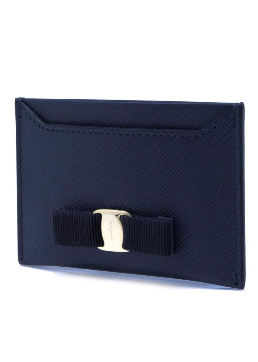 Blue color Wallets and Clutches . Salvatore Ferragamo Vara Card Case - Leather -