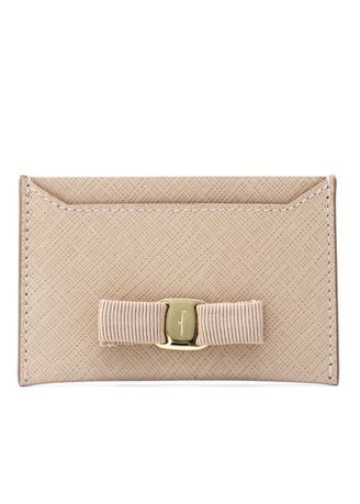Pink color Wallets and Clutches . Salvatore Ferragamo Vara Card Case - Leather -