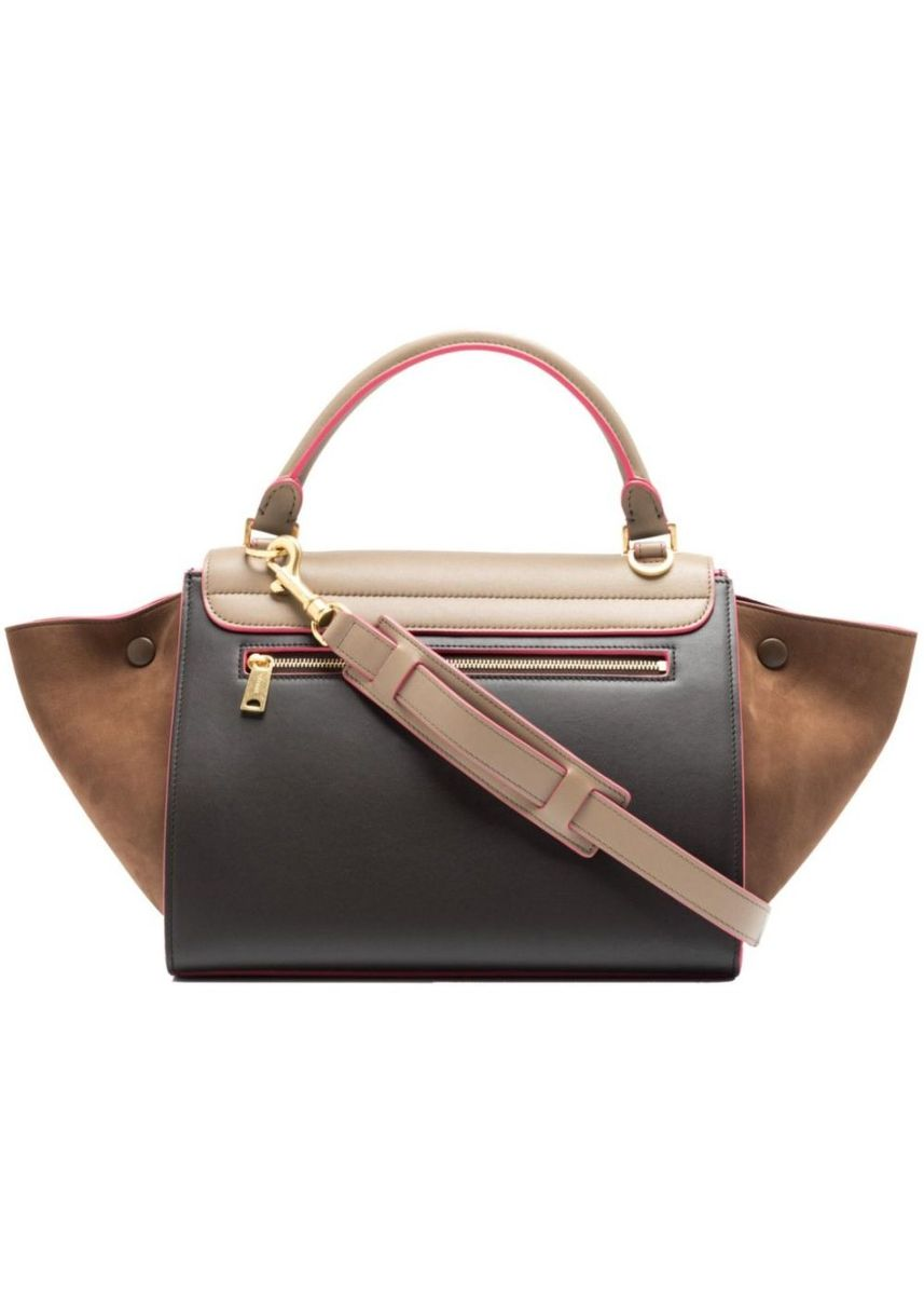 Brown color Sling Bags . Celine Small Trapeze Bag -