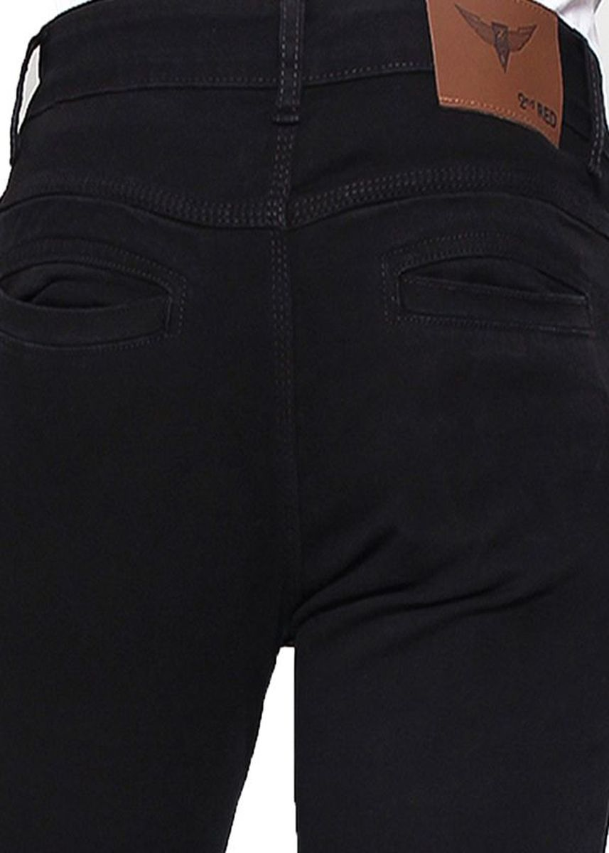 Black color Trousers . 2Nd RED Skinny Chinos Black 251603 -