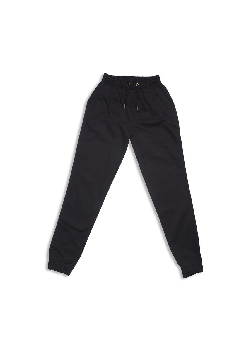 Black color Casual Trousers and Chinos . Classic Jogger Pants - Black -