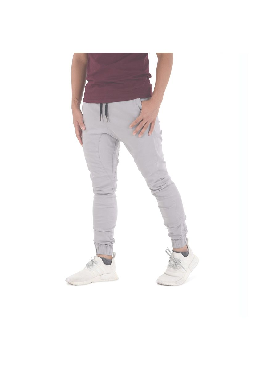 Grey color Casual Trousers and Chinos . Capsule Jogger Pants - Light Ash Grey -