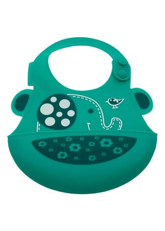Green color Accessories . Marcus & Marcus Baby Bib - Elephant -