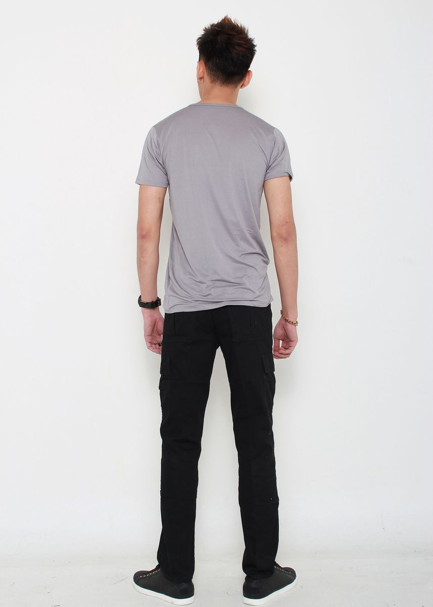 Black color Casual Trousers and Chinos . Cargo Long Pants -