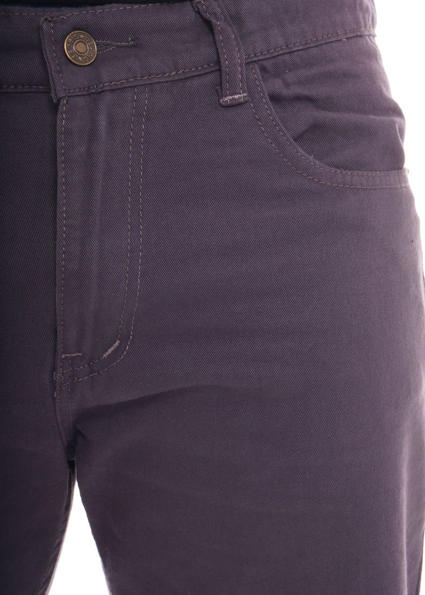 Violet color Jeans . Slim Straight Coloured Jeans -