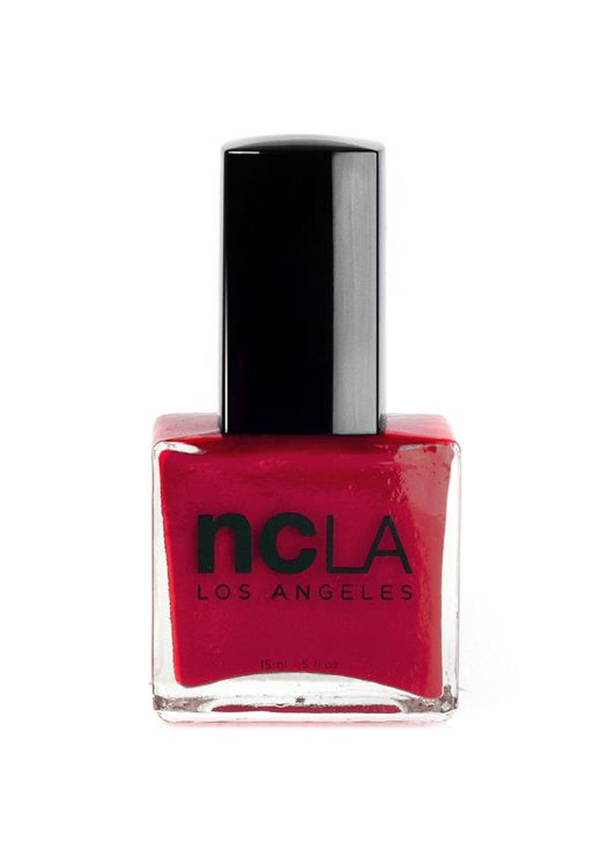 Red color Nails . NCLA Rush Hour Nail Polish - 15ml -
