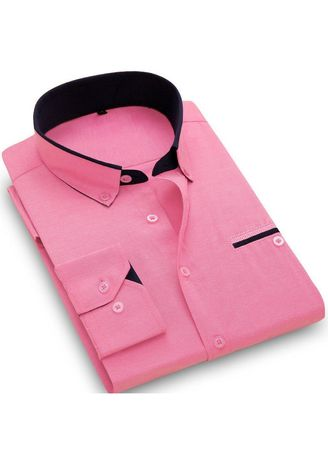 Formal Shirts . Contrast Inner Long Sleeve Shirt -