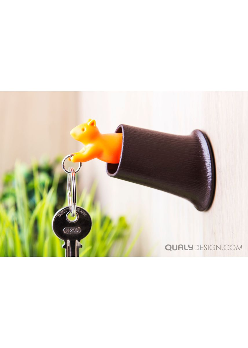Orange color Other . Squirrel Key Ring -