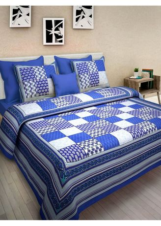 2dots King Size Pure Cotton Double Bedspread Bedsheet Bed Cover