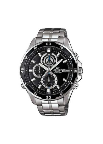 Black color Analog . Casio Edifice Afterglow Steel Band Watch -