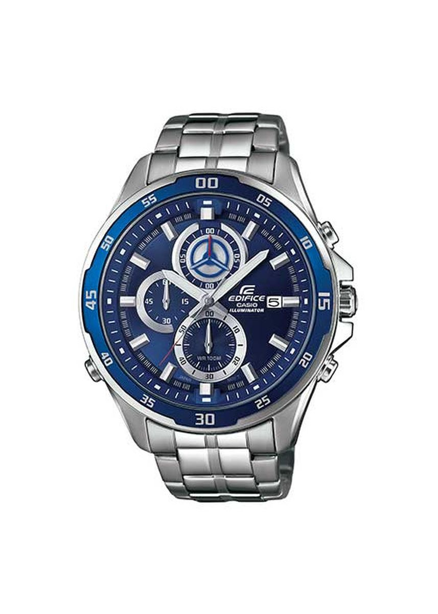 Blue color Analog . Casio Edifice Afterglow Steel Band Watch -