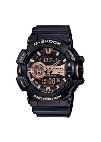 Black color Analog . Casio G-Shoch Class Magnetic Resistance Rotary Switch Watch -