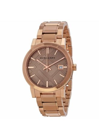 Gold color Analog . Burberry Women's Watch Rose Gold Stainless Steel Strap BU9034 -