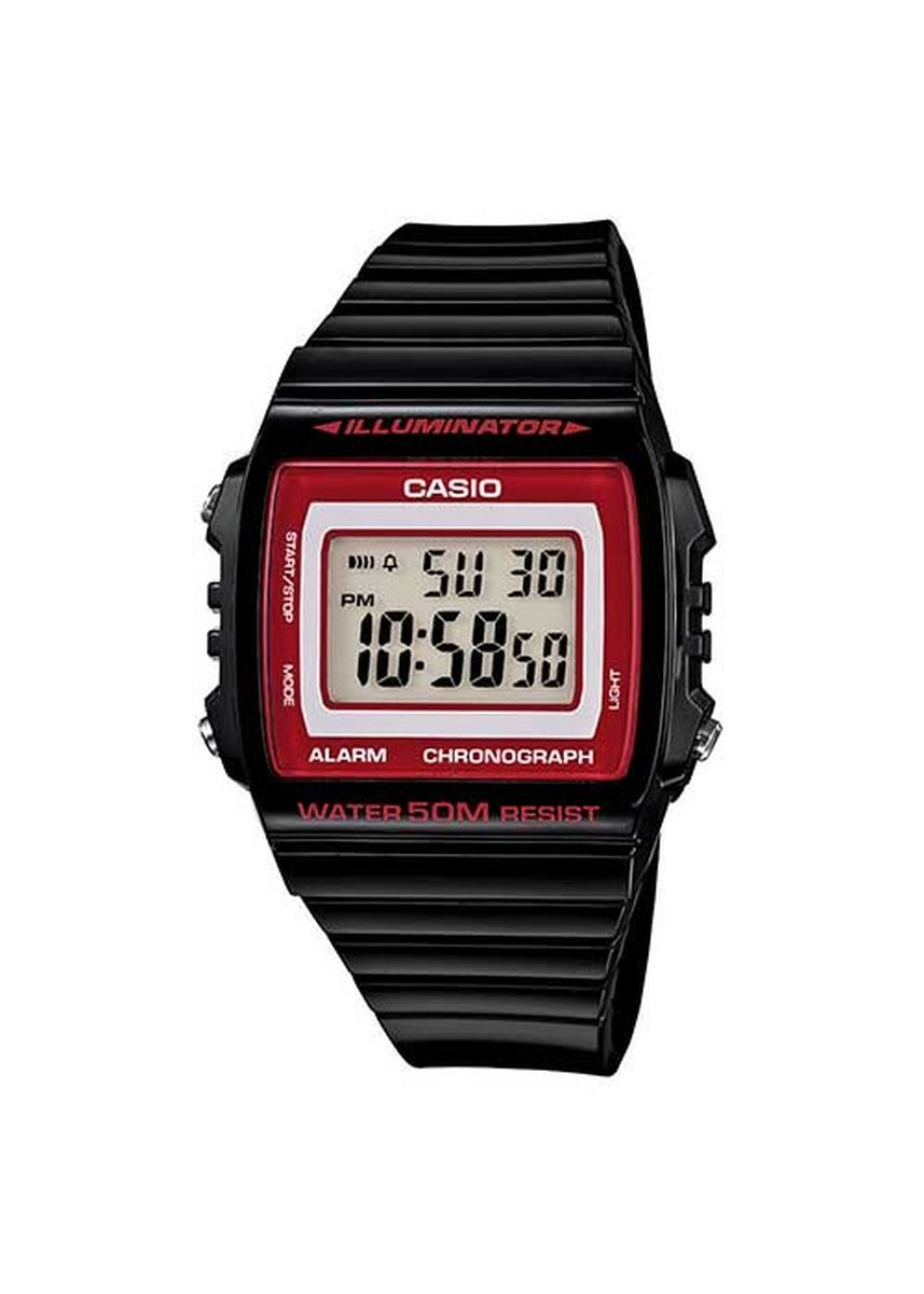 Black color Digital . Casio Calendar Day Date Movement Quartz Watch -