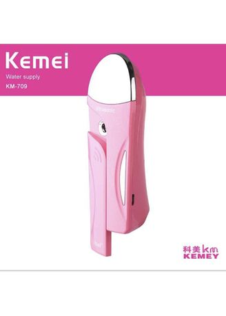 No Color color Face Wash . KEMEI KM-709 Ultrasonic Portable Rechargable Facial Handy Spa Moisturizing Mist Water Supply Massage Instrument -