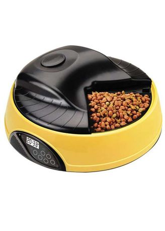 Multi color Storage . Portable 4 Meal LCD Automatic Pet Feeder - PF-05A -