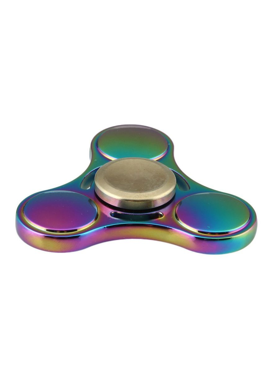Multi color Toys . FS05 - Neo Chrome Rainbow Design Speedy Metal Aluminium Fidget Hand Spinner Strong Stability -