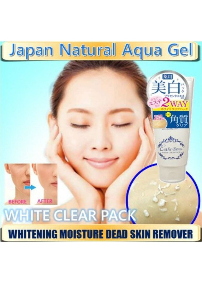 White color Whitening & Brightening . Natural Japan Aqua Gel- White Clear Pack -