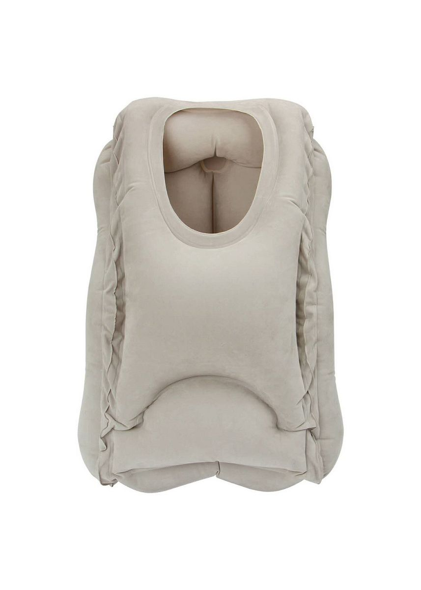 No Color color Camping & Hiking . Inflatable Air Cushion Neck Support Pillow Travel Camping Nap - Bantal Tidur Travel Portable -