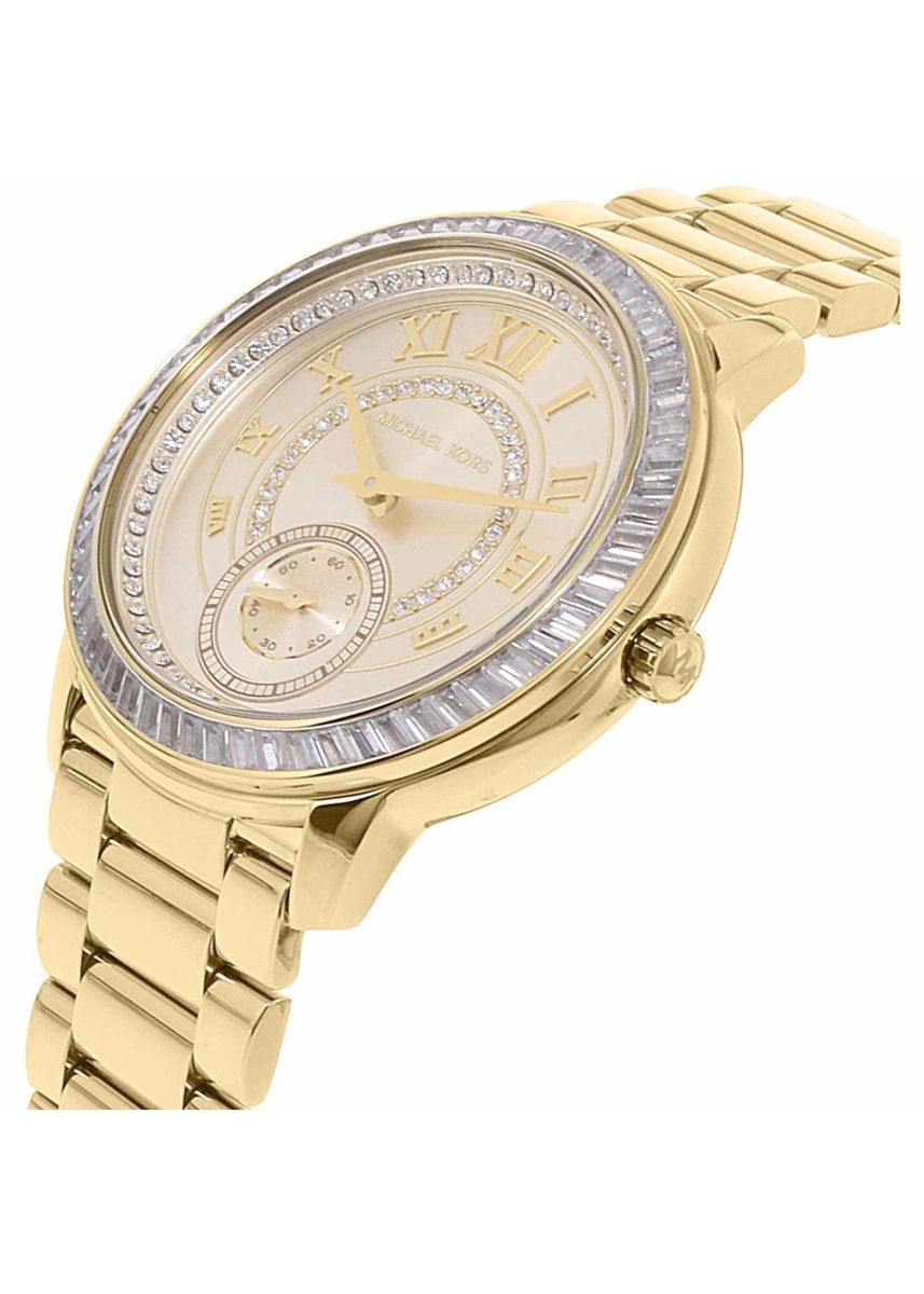 Gold color Analog . MICHAEL KORS Madelyn Champagne Dial Gold-tone Ladies Watch MK6287 -