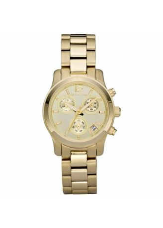 Michael Kors Gold tone Stainless Steel Chronograph Ladies