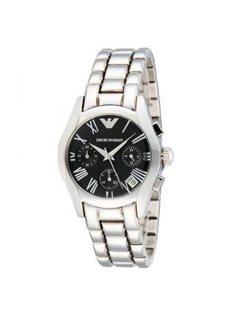 Silver color Analog . ARMANI Ladies Stainless Steel Chronograph Watch AR0674 -