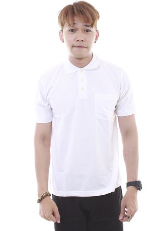 White color T-Shirts and Polos . Plain Polo Tee Zoff -
