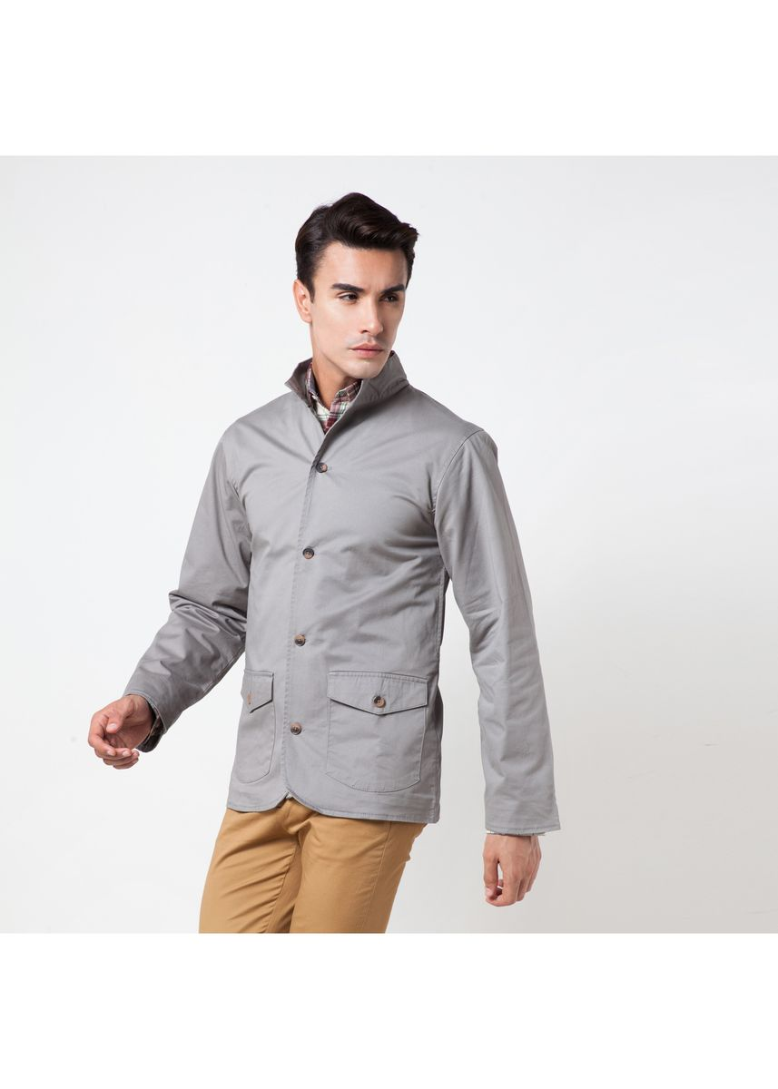 Grey color Jackets . Août Singapore - Mens Dress Casual Jacket  -