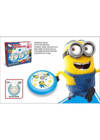 Multi color  . Minion Air Power Football Indoor Flashing Suspended Ball Toys Soccer Disc LED - Mainan Sepak Bola Indoor -
