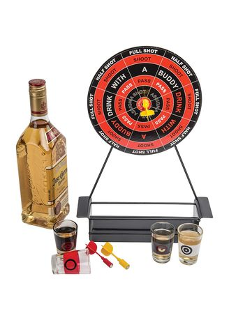Multi color Storage . Crystal Clear Glass Mini Darts Shot Set Game -