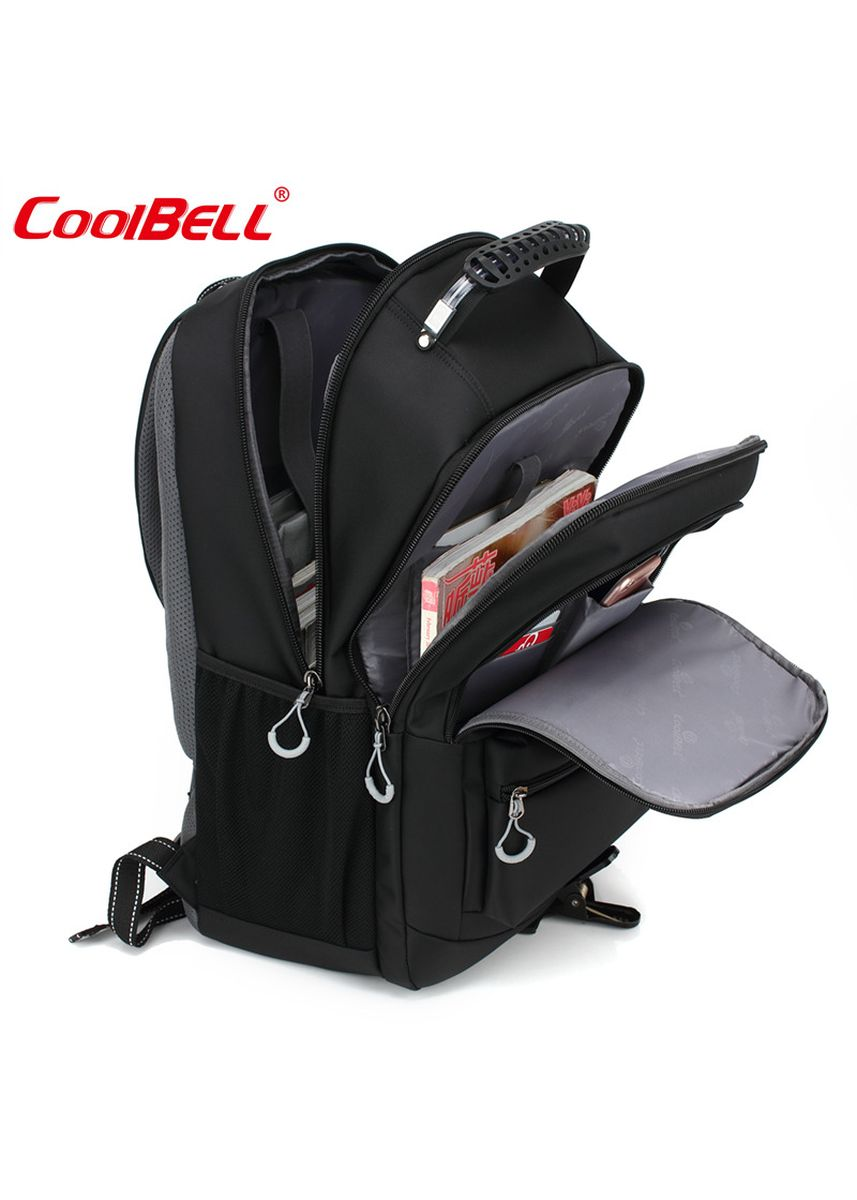 Grey color Backpacks . Original COOLBELL CB-5508 18.4 Inch - Laptop Backpack Unisex - Shockproof with Large Capacity - Travel Day Pack Multi-functional Nylon Waterproof -