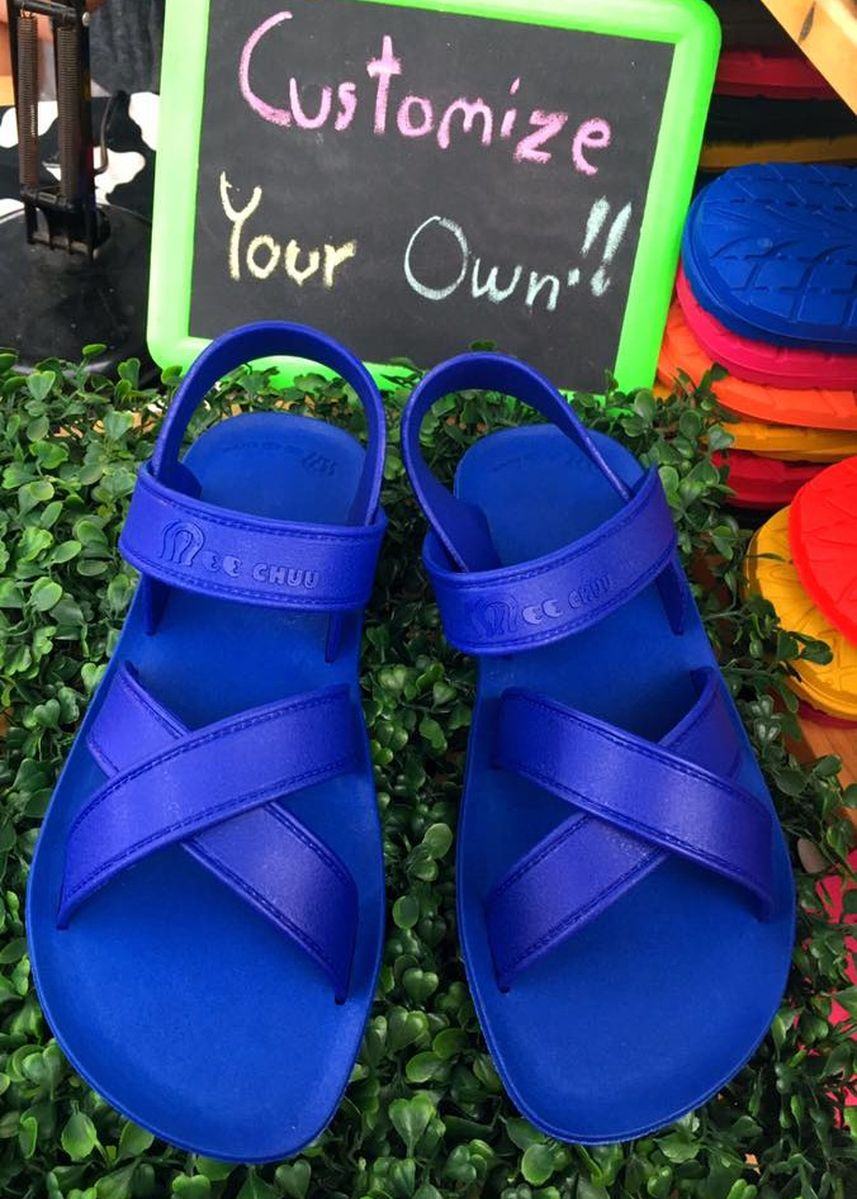 Blue color Sandals and Slippers . Cross sandal -