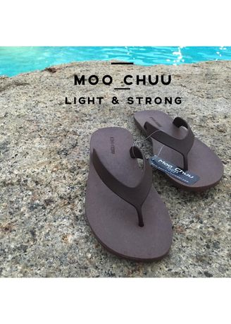 Black color Sandals and Slippers . MOO CHUU : Flip flop -