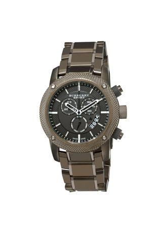 Brown color Analog . Burberry Men's Chronograph Sport Watch Stanless Strap BU7716 - Brown -