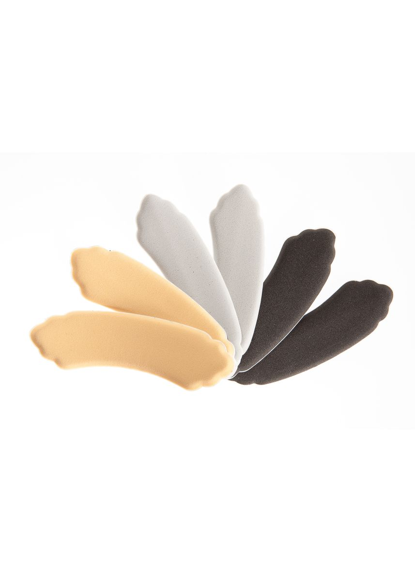 No Color color Inserts . Foot Petals Heavenly Heelz Combo - 3 pairs ( Black Iris / Buttercup / Silver Rose) -