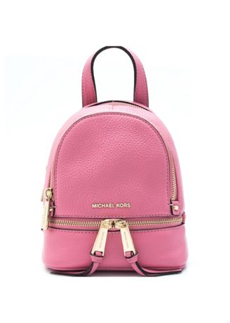 Pink color Backpacks . Michael Kors Rhea Zip XS Messenger Leather Backpack -