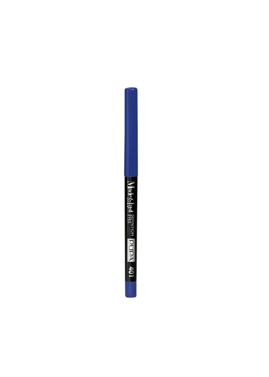 Blue color Eyes . PUPA Made To Last Definition Eye Pencil - 401 Electric Blue -