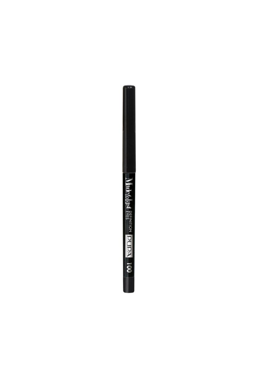 Black color Eyes . PUPA Made To Last Definition Eye Pencil - 100 Deep Black -
