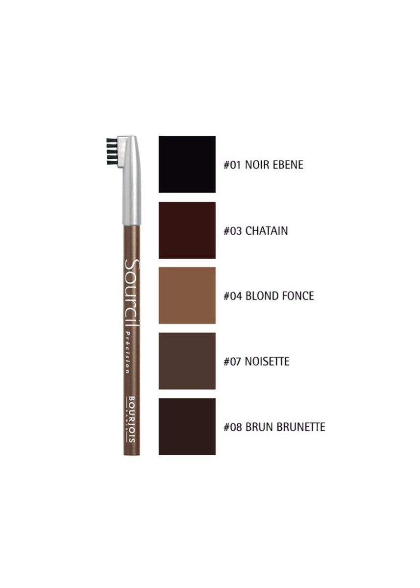 Brown color Eyes . Bourjois Sourcil Precision Eyebrow Pencil #01 Noir Ebene 1.13g -