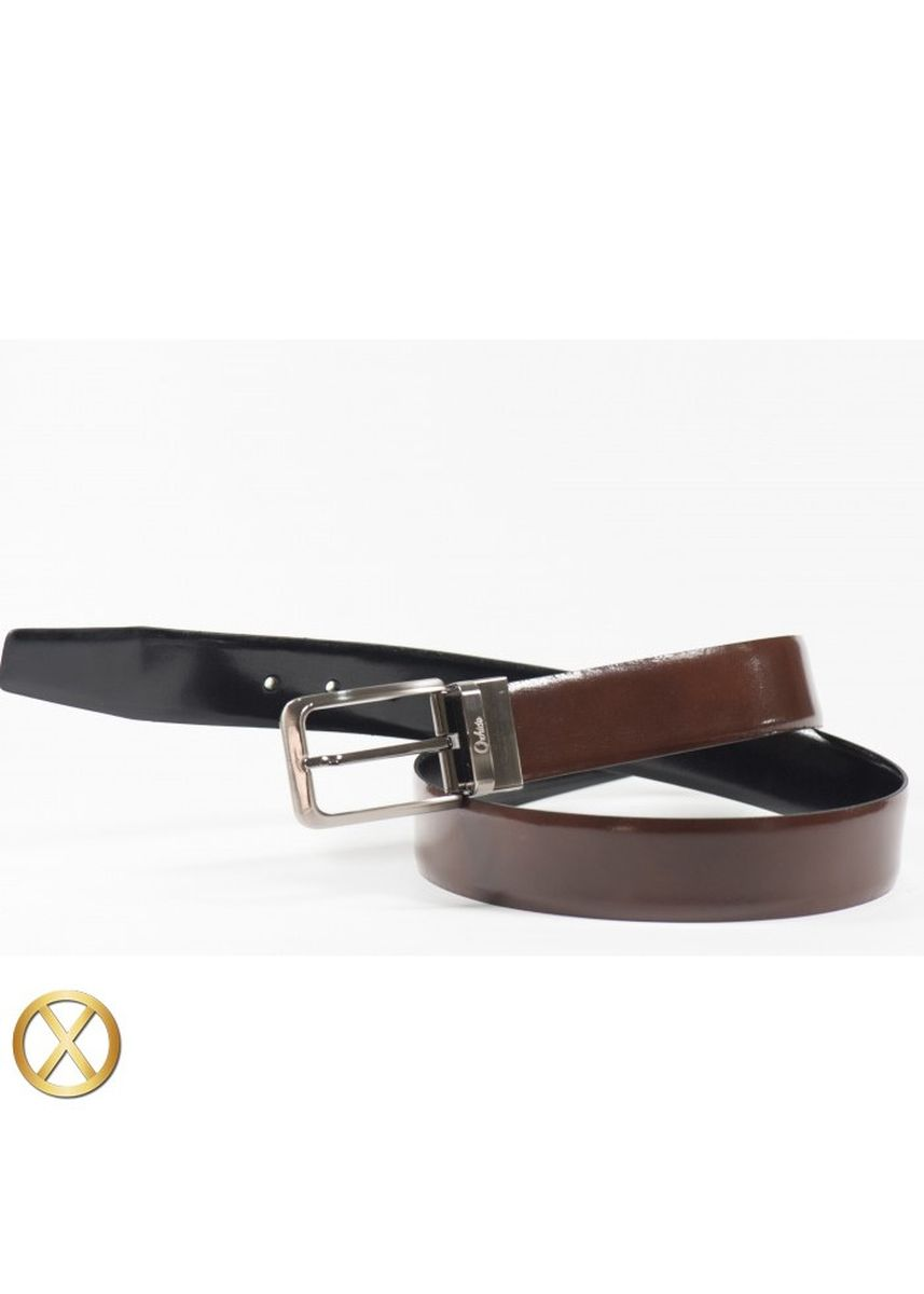 Brown color Belts . Spanish Leather Reversible Belt - Amaranto -