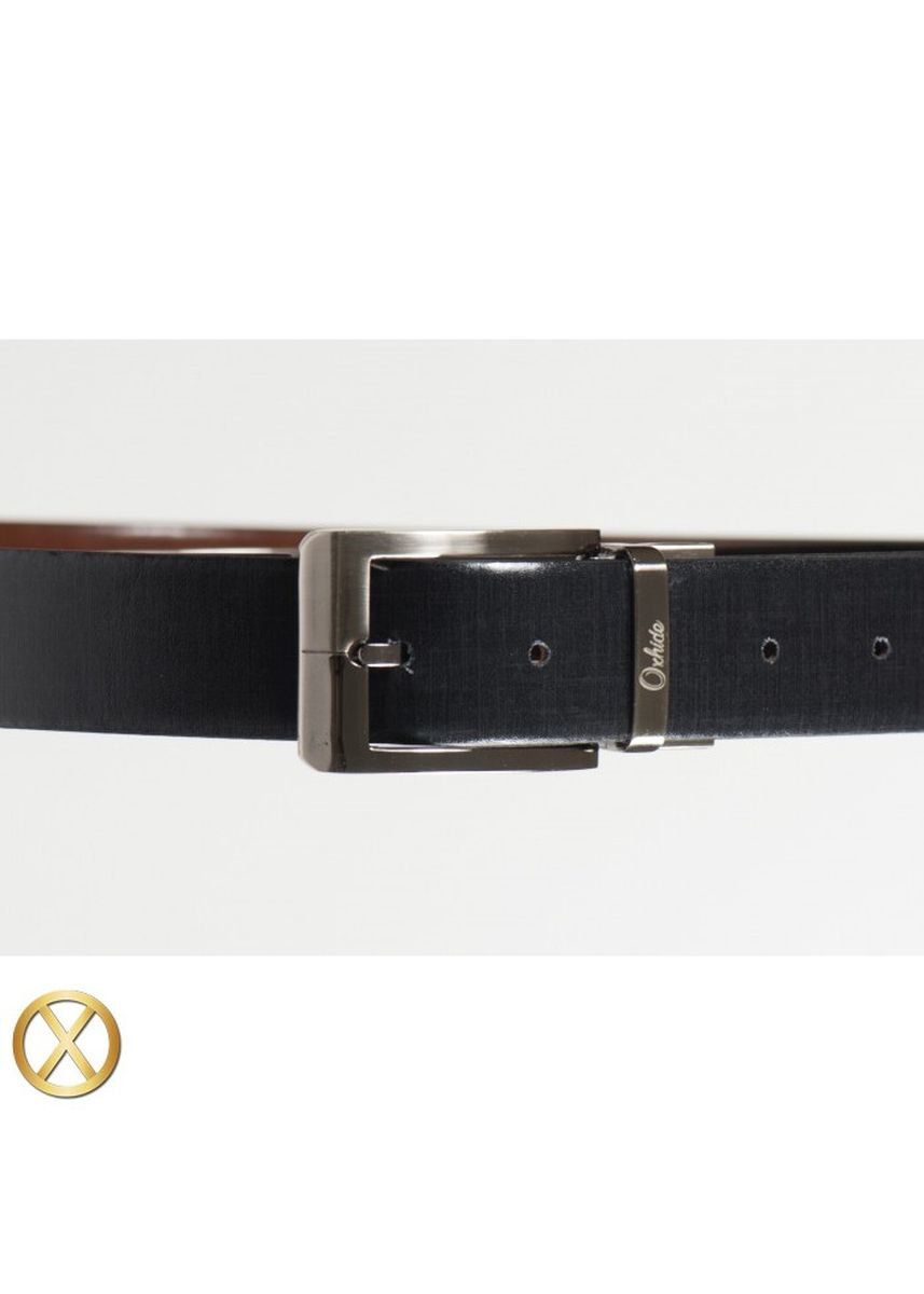 Brown color Belts . Spanish Leather Reversible Belt - Fabric -