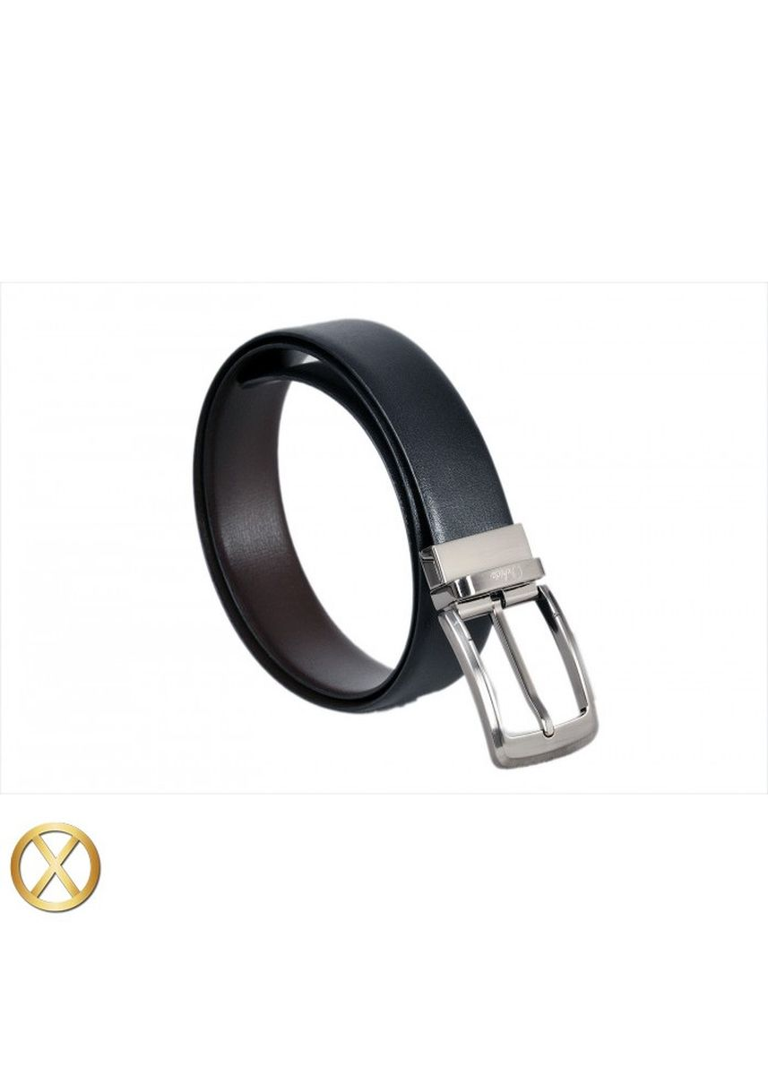 Black color Belts . Spanish Leather Reversible Belt - Palmilla -