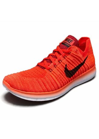 81eb39ea1e86 Nike รองเท้าวิ่งผู้ชาย Nike Free RN Flyknit 831069-600 (Bright Crimson    Black-University Red)