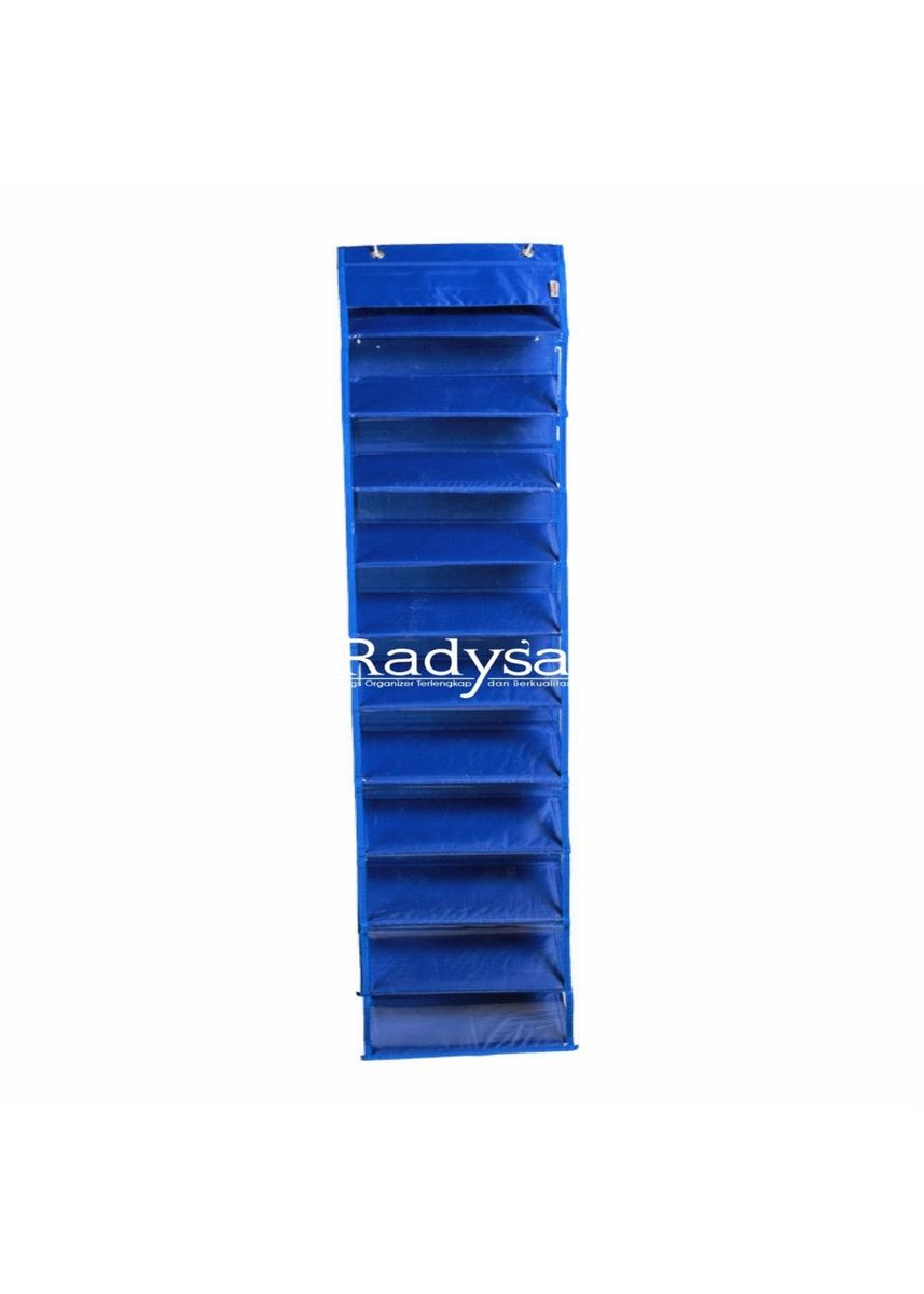 Blue color Shoe Storage . RADYSA Hanging Shoe Organizer ( HSO ) / Rak Sepatu Gantung Tanpa Resleting -