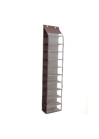 Brown color Shoe Storage . RADYSA Hanging Shoe Organizer ( HSO ) / Rak Sepatu Gantung Tanpa Resleting -