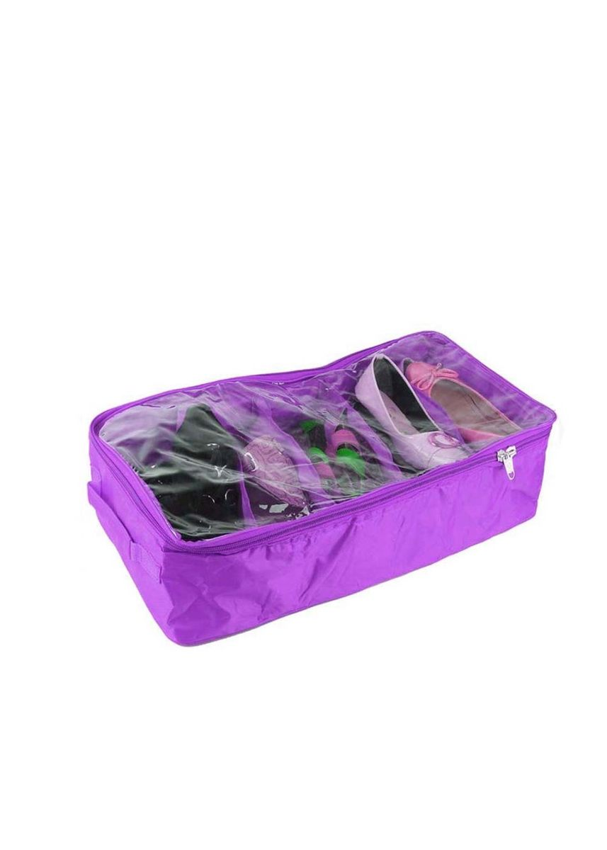 Purple color Shoe Storage . RADYSA Shoes Case Organizer 5 Partition ( SCO 5 ) -