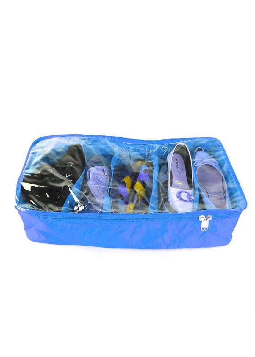 Light Blue color Shoe Storage . RADYSA Shoes Case Organizer 5 Partition ( SCO 5 ) -