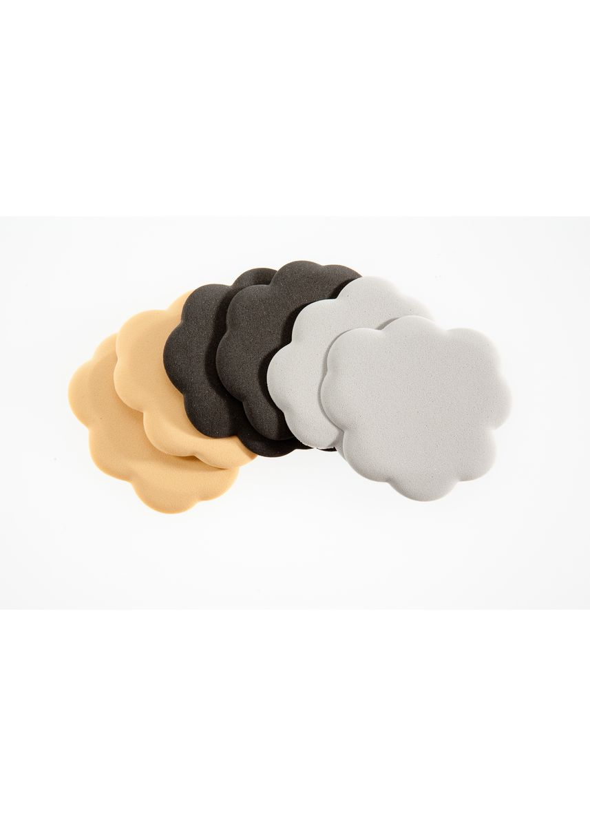 No Color color Inserts . Foot Petals Tip Toes Combo 3 pairs ( Black/Beige/Grey) -