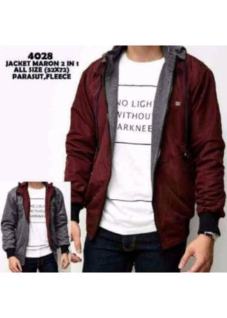 Jackets . Jaket BB 2 in 1 Red in Grey  -